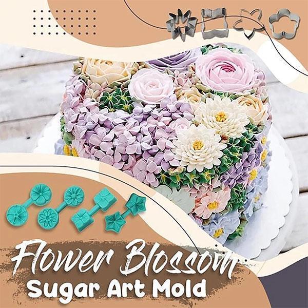 Flower Blossom Sugar Art Mold Food Grade Silicon Cookie Biscuit DIY Mold Flower Shape Cutter Baking