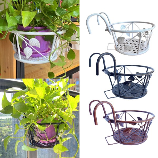 Hanging Balcony Railing Holder Balcony Railing Holder for porch balcony garden potted succulents cactus Hanging plant