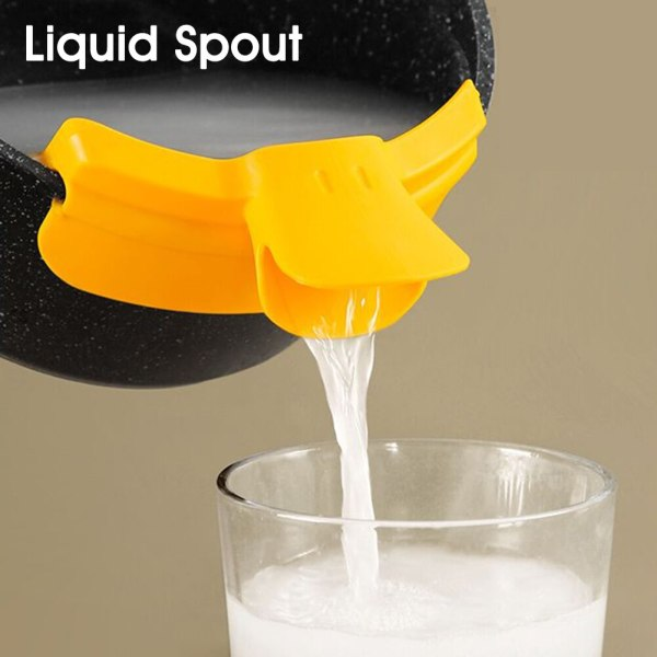 Kitchen Anti spill Funnel Silicone Pour Soup Funnel for Pots Pans Bowls Jars Water Deflector Kitchen