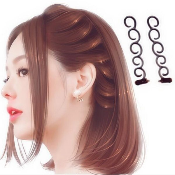 Women Fashion Flower Magic Hair Clip Bride Stylist Queue Twist Plait Hair Braid DIY Hairstyle Styling