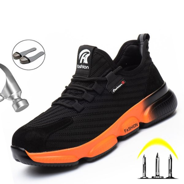 Work Safety Shoes Men Anti puncture Work Boots Men Indestructible Working Sneakers Male Shoes Adult Steel