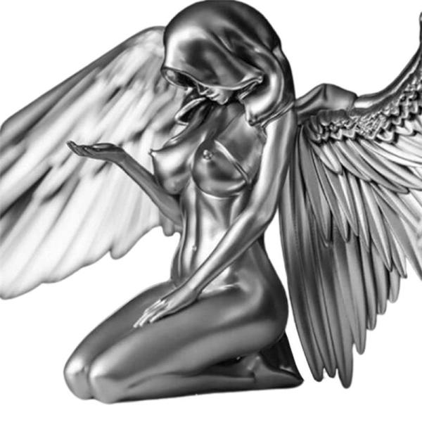 Angel Art Sculpture Home Decoration 3D Resin Statue Angel Wings For Living Room Bedroom Home Decor