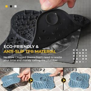 Anti blocking Hair Stopper Hair Catcher Plug Trap Shower Floor Drain Covers Sink Strainer Filter Bathroom 3
