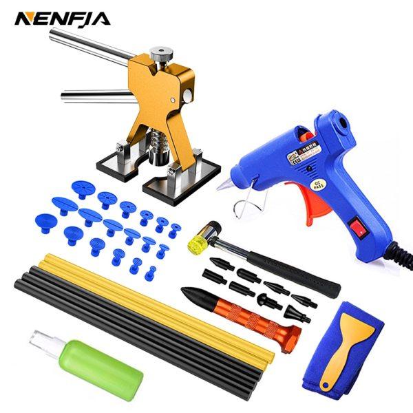 Car paintless dent repair tools Dent Repair Kit Car Dent Puller with Glue Puller Tabs Removal