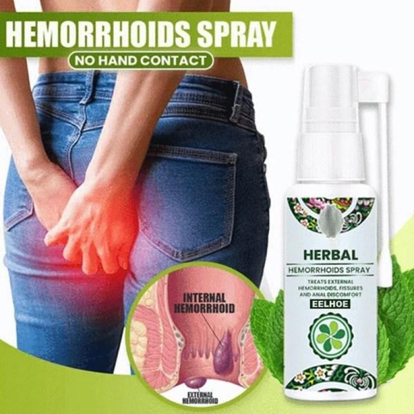 Chinese Herbal Anal Hemorrhoids Treatment Spray Crack Internal External Anal Fissure Painkiller Mild And Safe Health