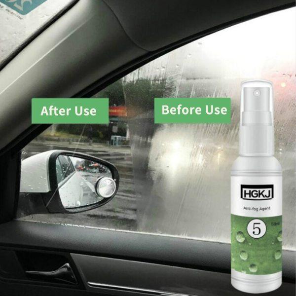 HGKJ 5 Waterproof Rainproof Anti fog Agent Glass Hydrophobic nano Coating spray For Car Windscreen Bathroom