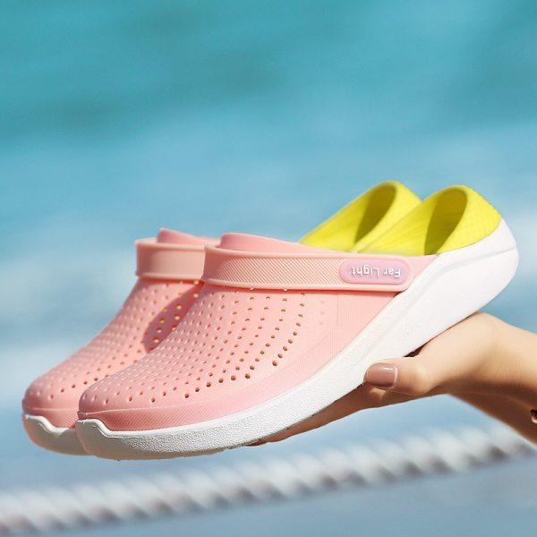 LLUUMIU Garden Clogs Women Slip on Sandals Waterproof Shoes Women Classic Nursing EVA Slippers Hospital Women