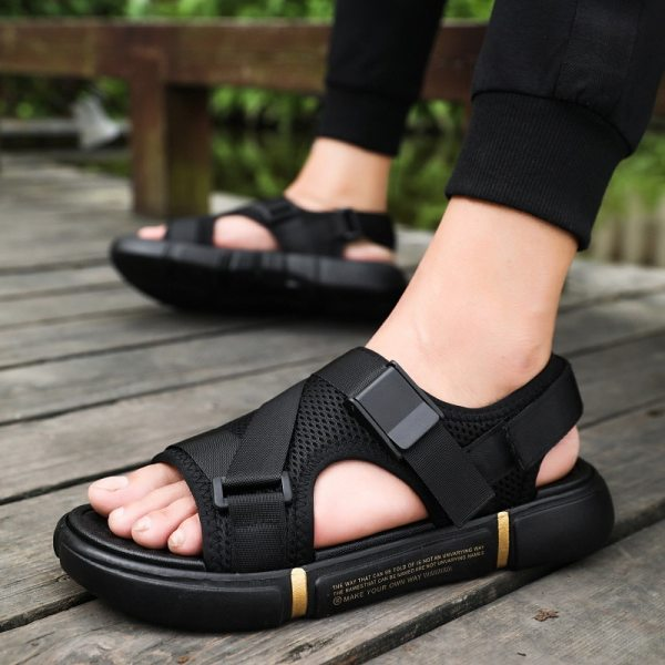 Outdoor Breathable Comfort Slip on Plus Size Open Shoes Casual Men Sandals Summer Shoes Sandal Mens
