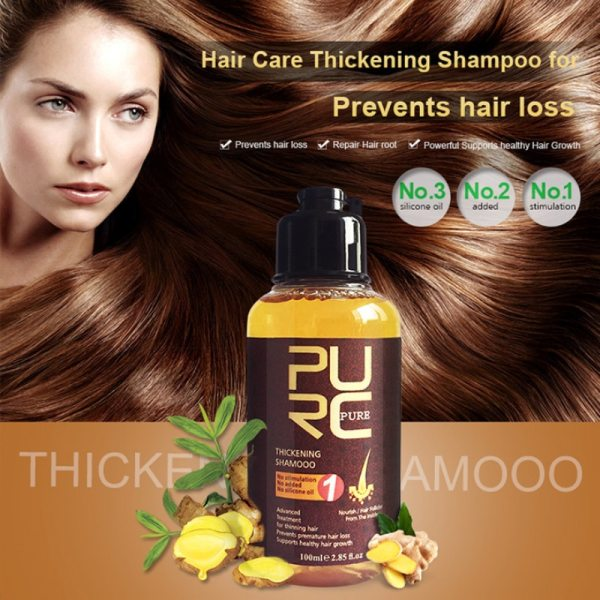 PURC 100ml Ginger Essence Hair Growth Thickening Extract Anti Hair Loss Nourish Root Hair Help Hair