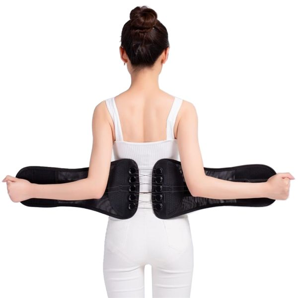 Pulley System Waist Support Belt Back Braces Lumbar Treatment of Disc Herniation Muscle Strain Orthopedic Protection