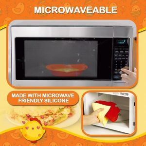Silicone Omelette Maker Silicone Omelet Tool Microwave Oven Non Stick Omelette Maker Egg Roll Baking Pan 2