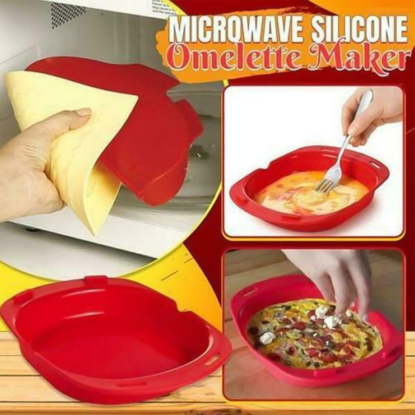Silicone Omelette Maker Silicone Omelet Tool Microwave Oven Non Stick Omelette Maker Egg Roll Baking Pan