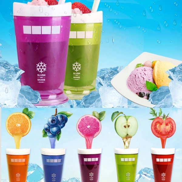Smoothie Cup Ice Cream Maker Homemade Squeeze Cup Ice Slush Making Bottle