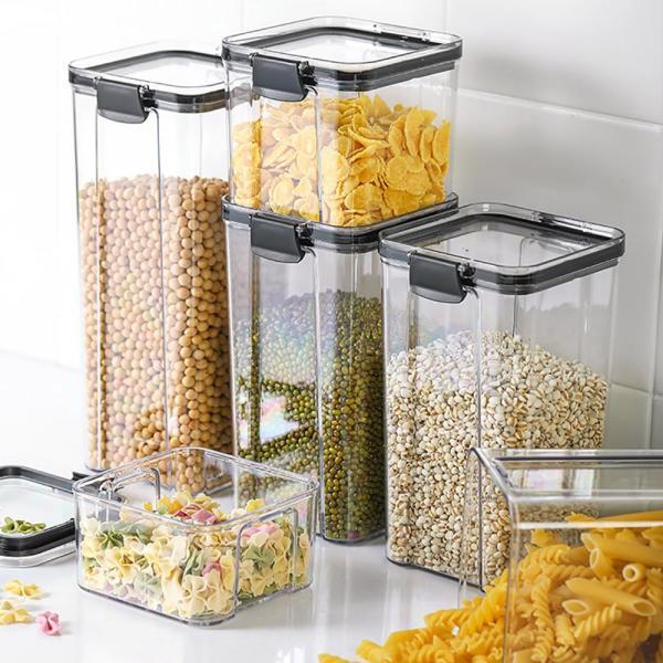 Stackable Kitchen Sealed Jar Plastic Food Storage Box Multigrain Storage Tank Dried Fruit Tea Jar Storage