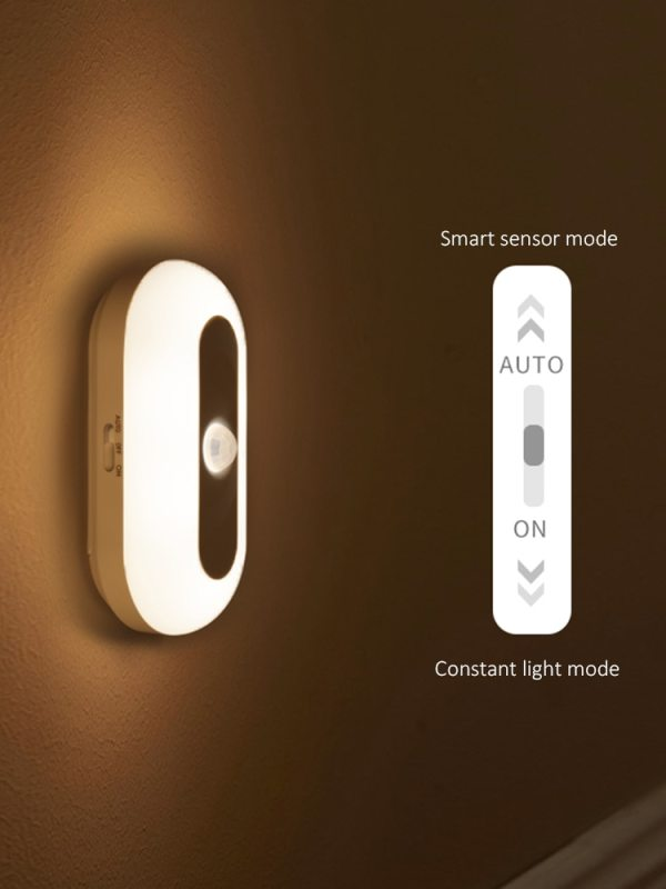 Starcompass Rechargeable Led Night Light Magnetic Suction Night Light With Hook Body Induction Night Light Baby