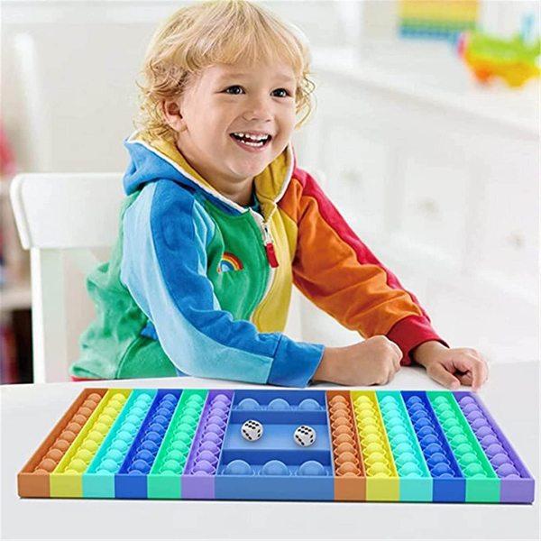 Big Popper Game Rainbow Chess Board Push Bubble Popper Fidget Sensory Toys Stress Relief Toy Interactive