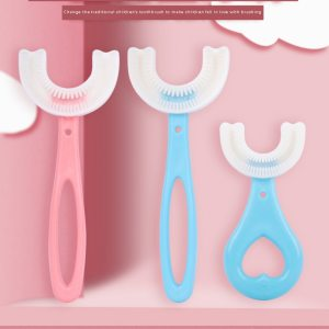 U shaped Silicone Toothbrush Automatic Sonic Baby Tooth Brush For Lazy People With Toothbrushing Instrument Cleaning