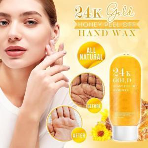 24K Gold Honey Peel Off Hand Wax