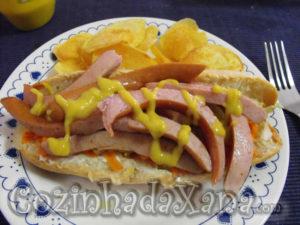 Sandes de lesma (cachorro quente)