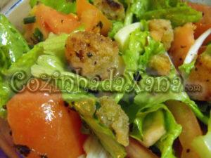 Salada crocante