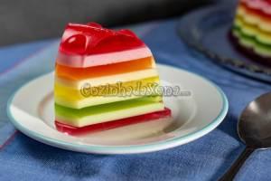 Pudim unicórnio (Gelatina arco-íris)
