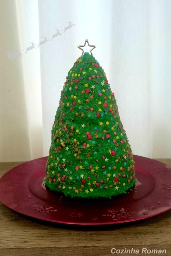 bolo árvore de natal