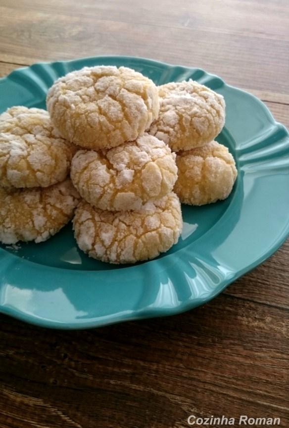 cookies de limão craquelado