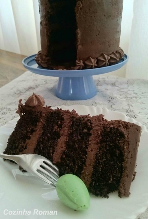 mini mega bolo de chocolate