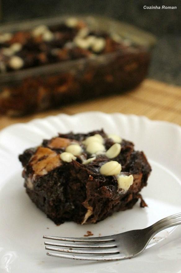 torta de pão com chocolate