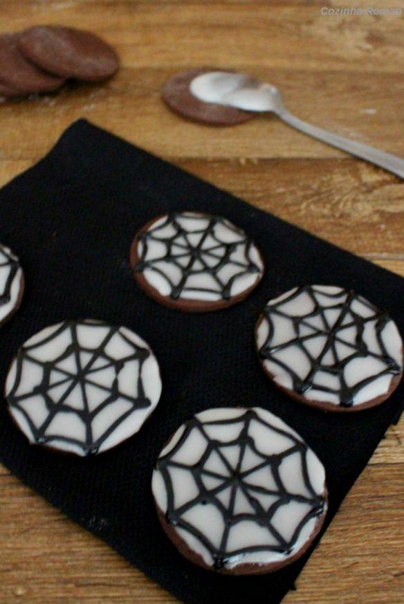 cookies teia de aranha