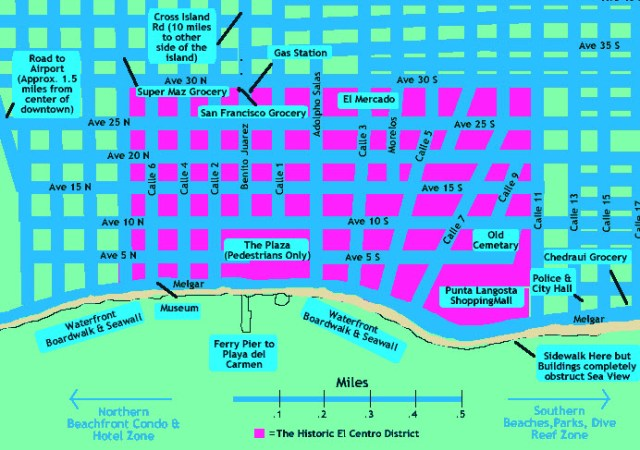 Cozumel My Cozumel map