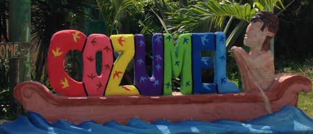 Cozumel My Cozumel sign