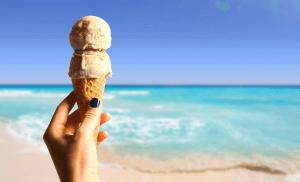 Cozumel beach and ice cream image
