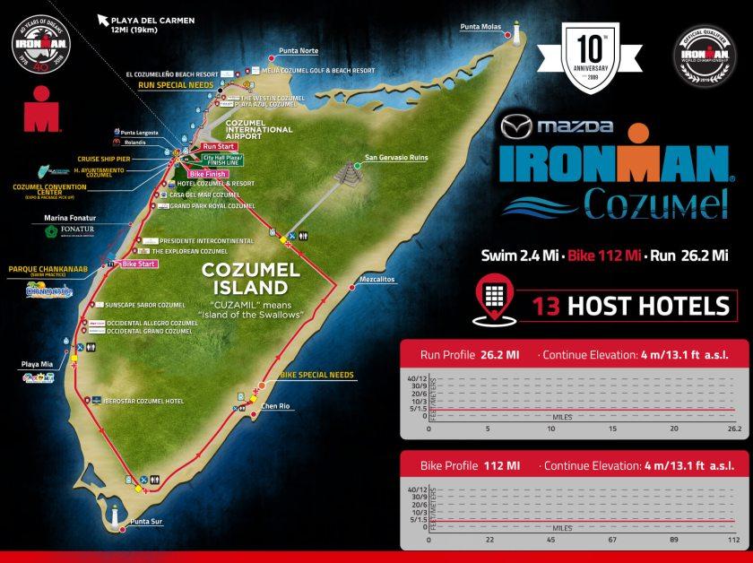 Cozumel My Cozumel Ironman 2018 map