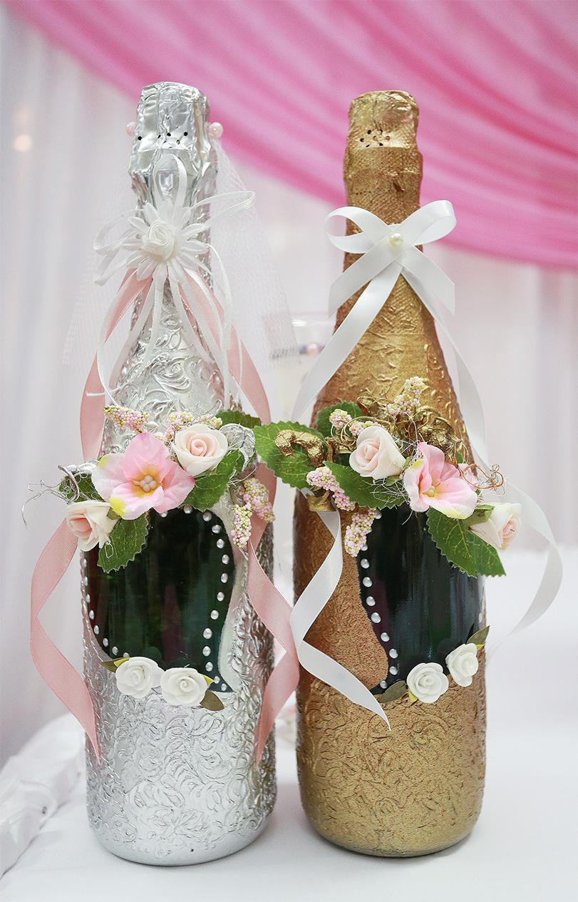 Hiasan indah botol untuk perkahwinan