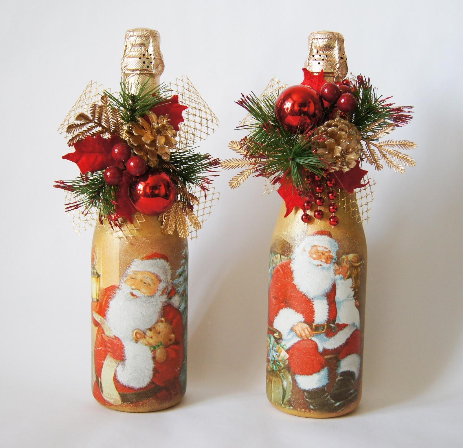 Botol hiasan yang terang untuk tahun baru