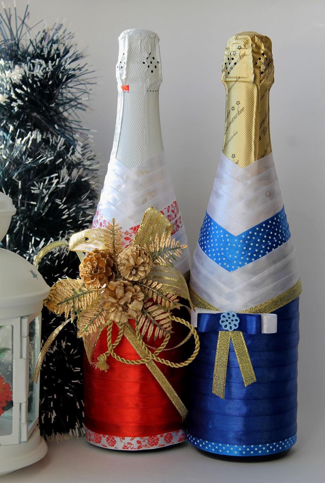 Botol hiasan christmas.