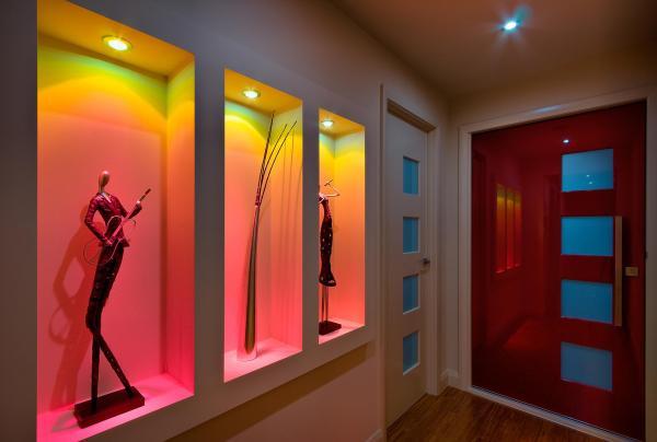 Ниши в стене из гипсокартона со светодиодной подсветкой ...