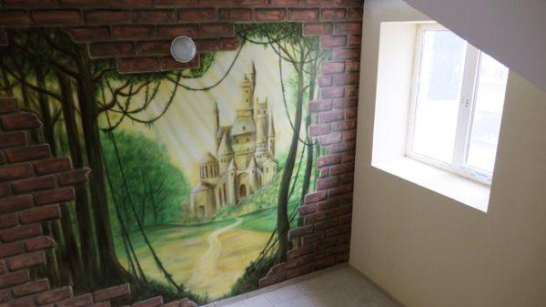 3д обои для стен для гостиной, как смотрятся объемные фото ...