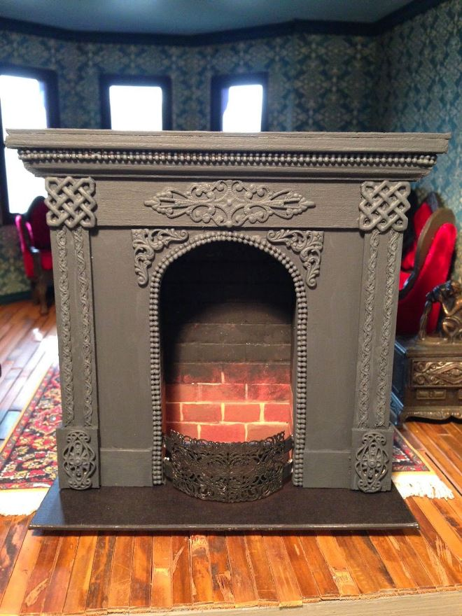 How to make a fireplace from cardboard with your own hands