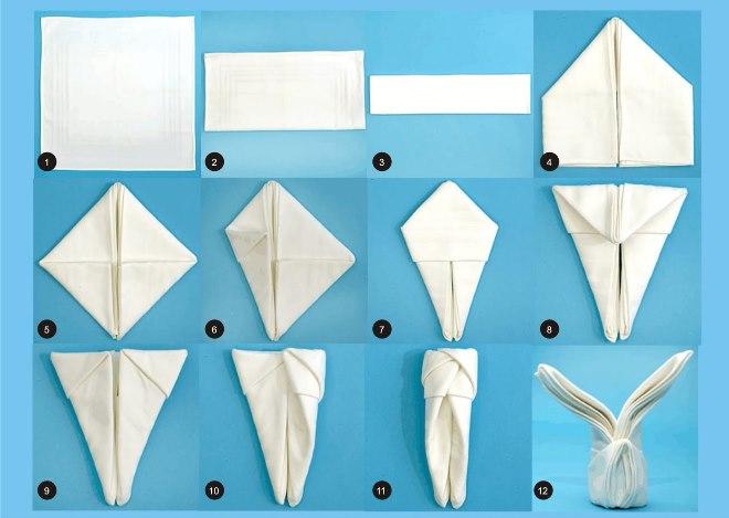 Оригинальные способы сложения салфеток
