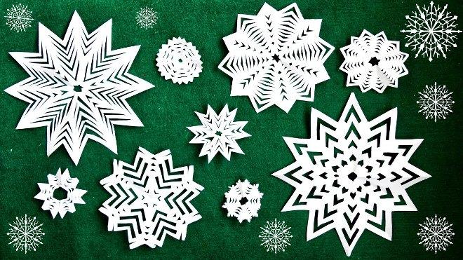 Украшения из бумаги на Новый год