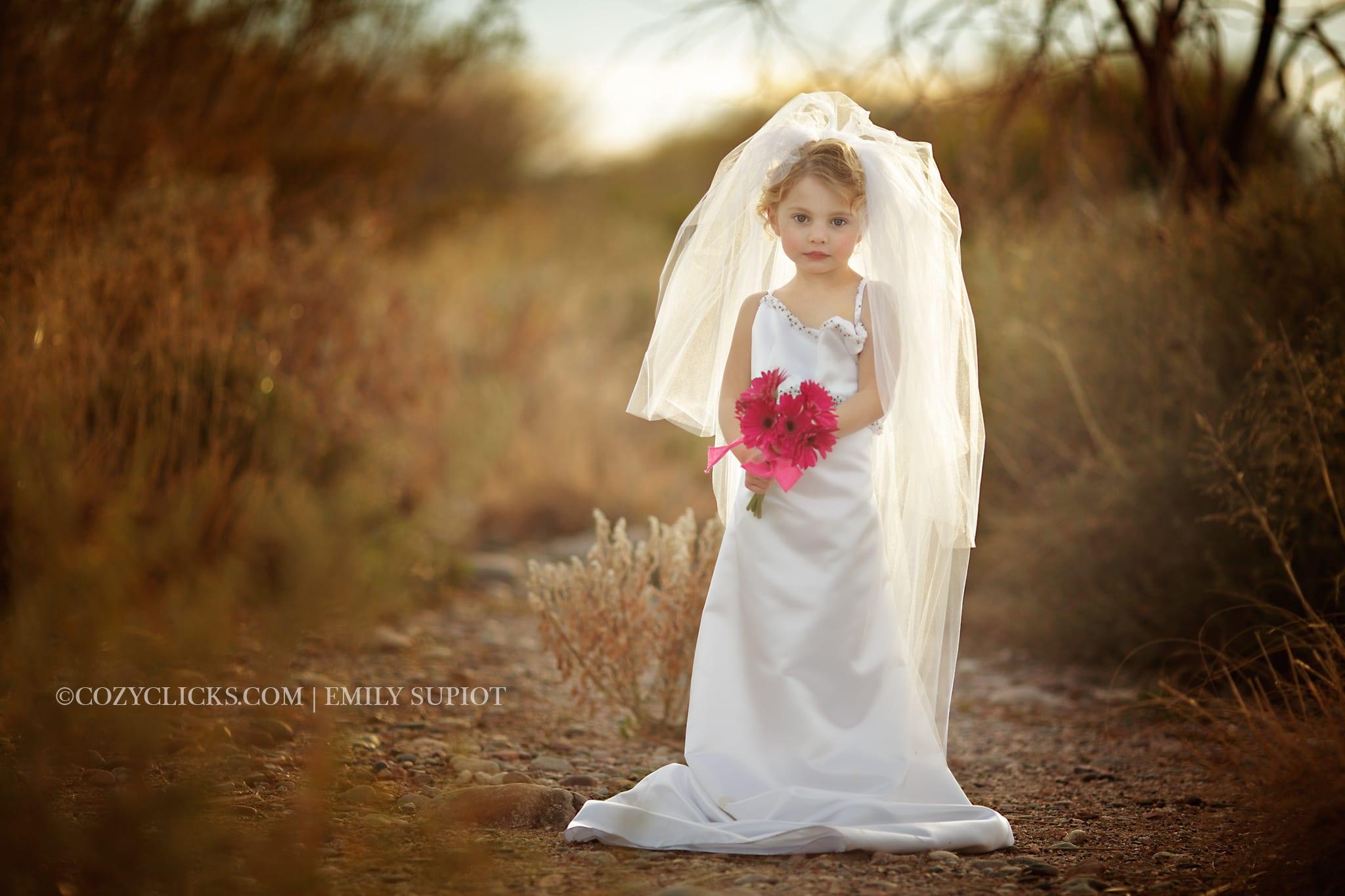"Phoenix Children's Photographer- ""Wedding Dress Up Preview"""