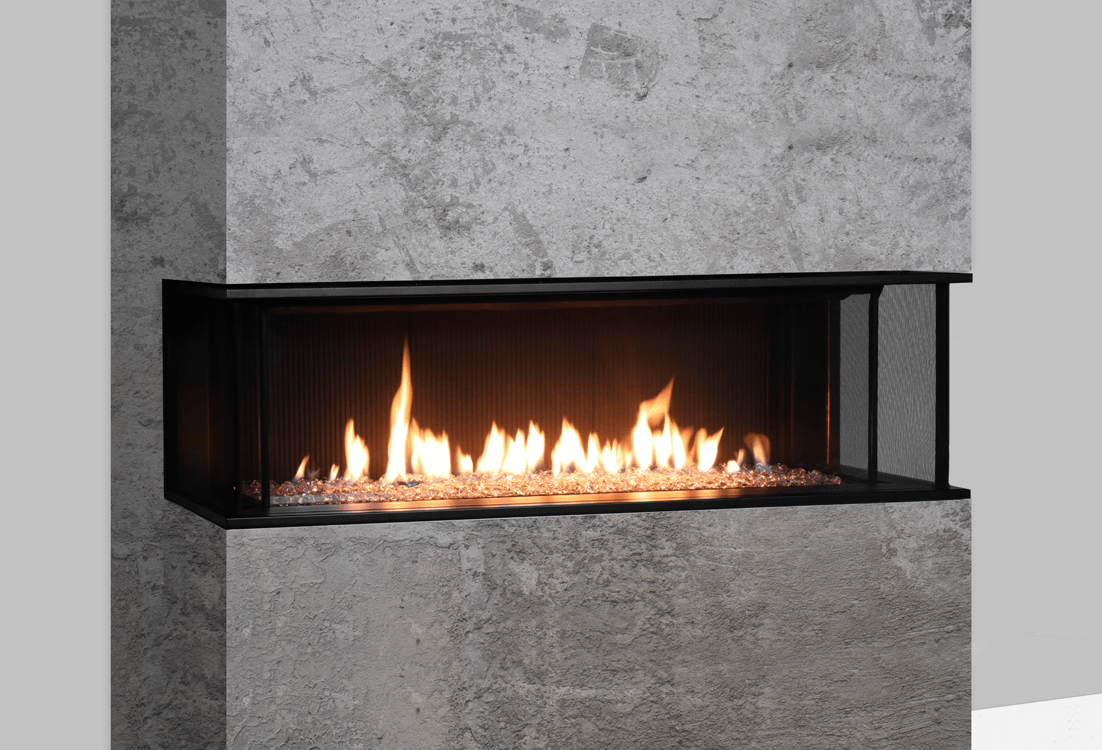 Valor LX2 3 Sided Series Gas Fireplace 2200JNJP Zero Clearance