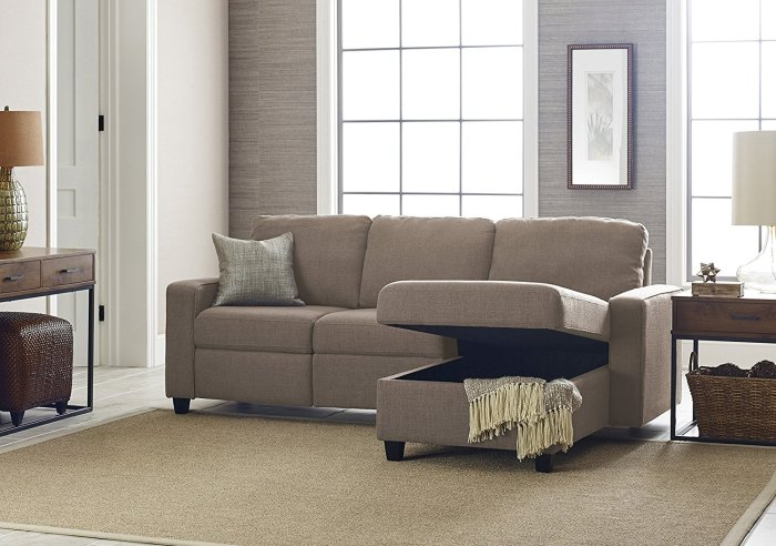 Review Serta Palisades Reclining Sectional Cozy Home 101