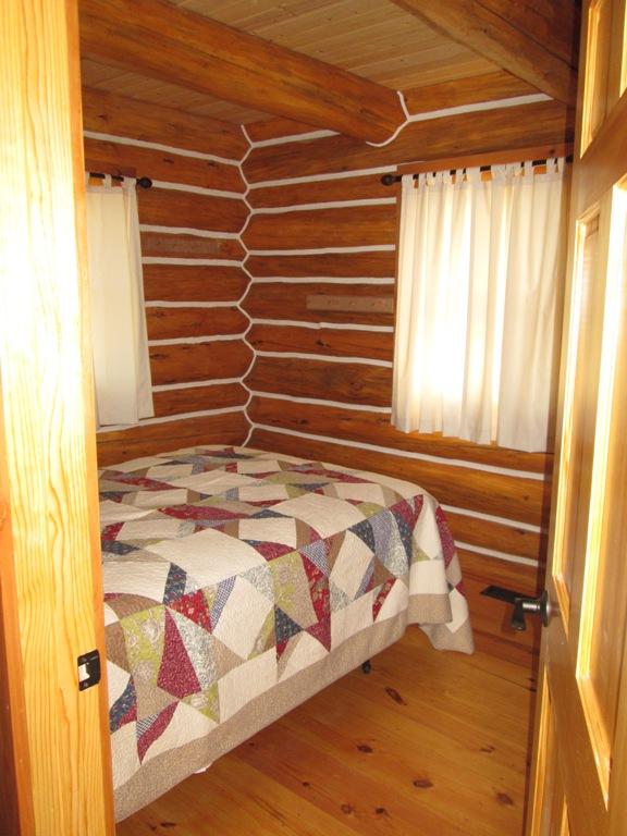 Montana log cabin bedroom