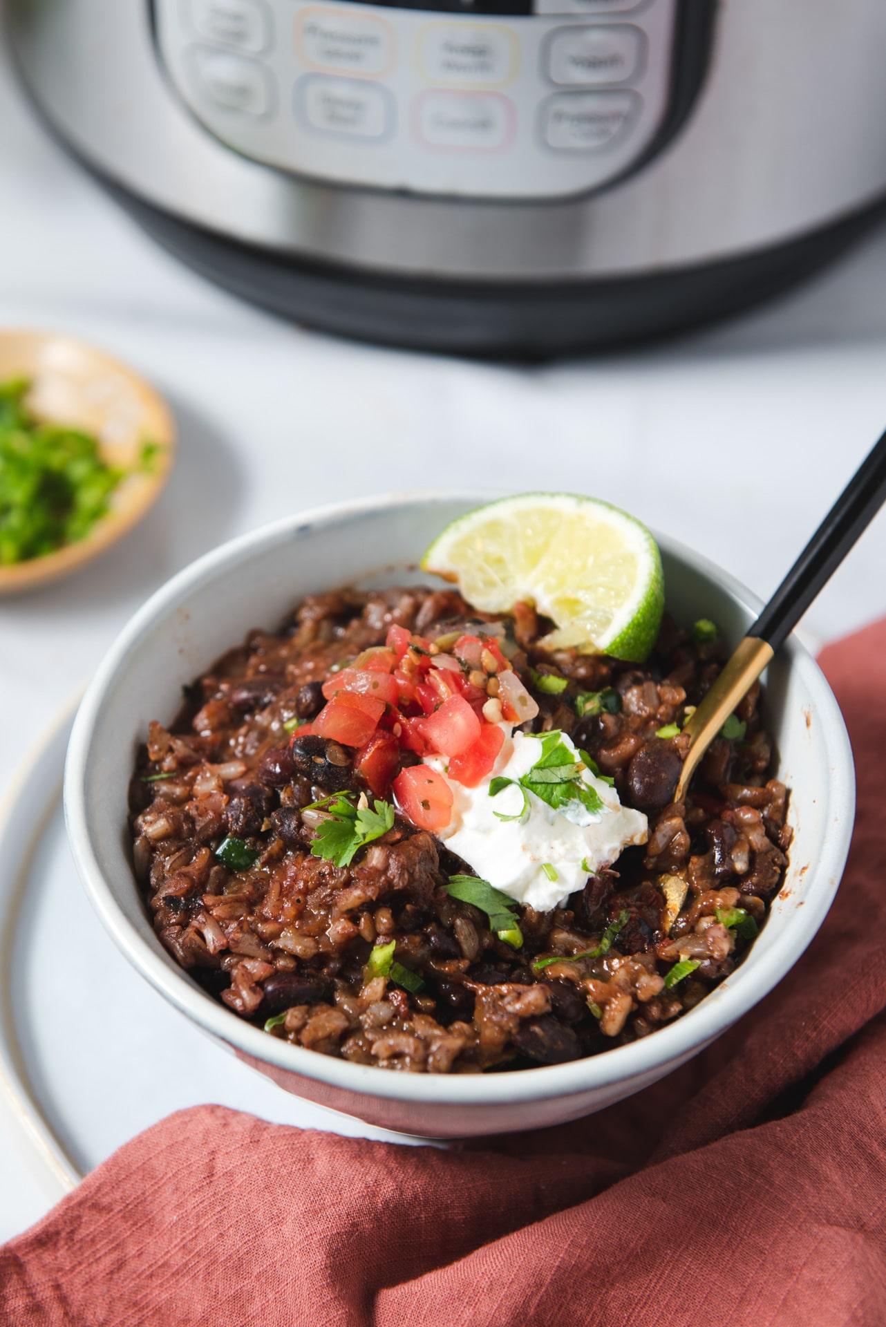 Vegan Instant Pot Black Beans And Rice