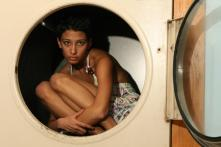 girl in washer