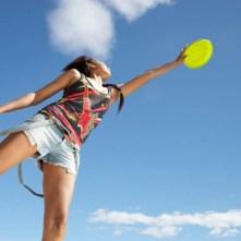 Girls Ultimate Frisbee Team