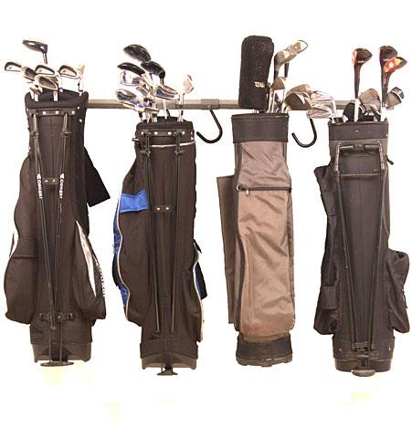 monkey bar golf bag storage rack